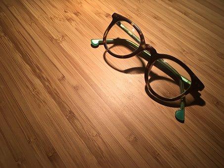 Glasses, Reading, Reading Glasses, Desk, Light, Shadow