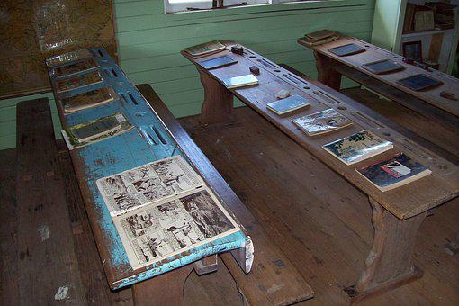 School Desk, School House, School Books