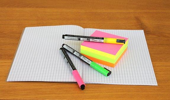 Office Stuff, School, Note, Pen, Office Supplies