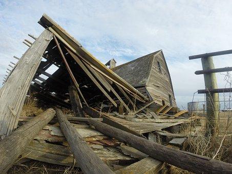 Prairie, Old, School, Abandoned, Rural, Building