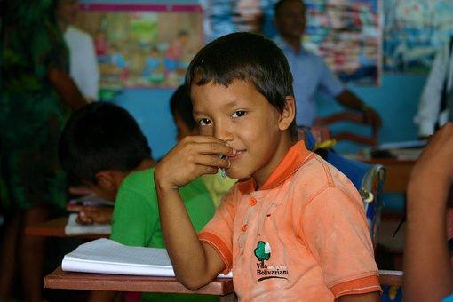 Amazon, Jungle, Schoolboy, Curiosity, School, Education