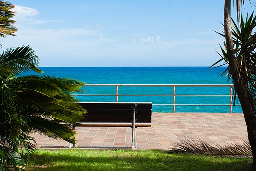 Sea, Bench, Sky, Love, Water, Landscape, Italy