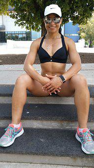 Fitness, Sexy, Bodybuilding, Workout, Muscular, Woman