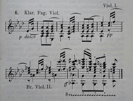 Sheet Music, Music, Symphony, Beethoven, Texture