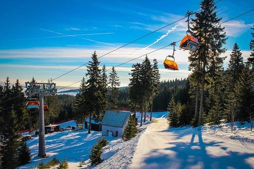 Snow, The Ski Slope, Cableway, Klínovec, Winter, Ski