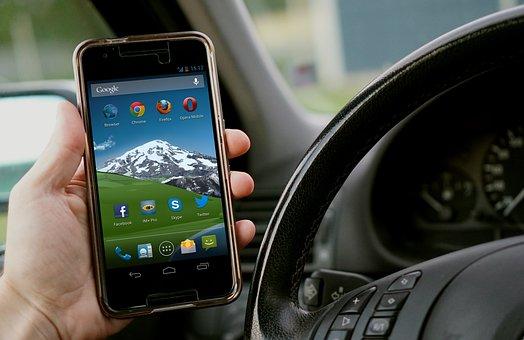 Mobile Phone, Car, Talk, Run, Phone, Apps, Sms, Mms
