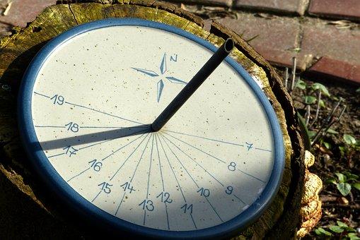 Sun, Clock, Sundial, Ceramic, Sound, Friesian