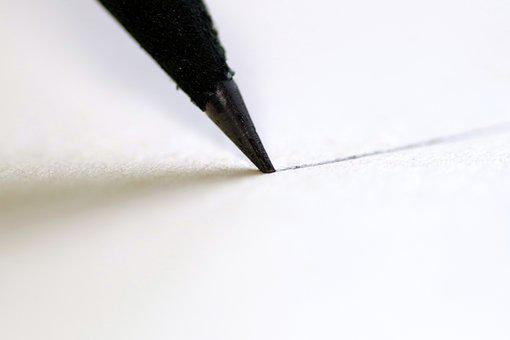 Pencil, To Write, Sharpened, Black, Stationery, Office