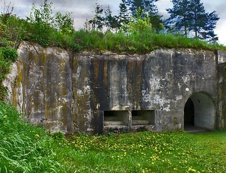 Bunker, Fortress, Defense, The Military, Bastion
