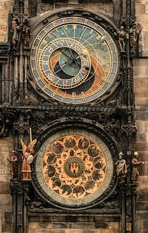 Prague, Clock, Town Hall, Historic Center