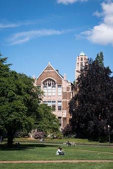 University, Grass, Sky, Building, Academy, Architecture