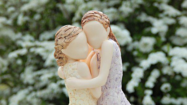 Arora, Figurine, Statuette, Woman, Hugs, Without A Face
