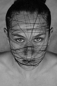 Face, Model, Eye, Art, Black White, Design, Image