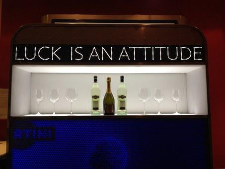 Slogan, Bar, Advertisement, Luck, Attitude, Positive
