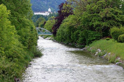 Landscape, Chiemgau, River, Prien, Castle, Hohenaschau