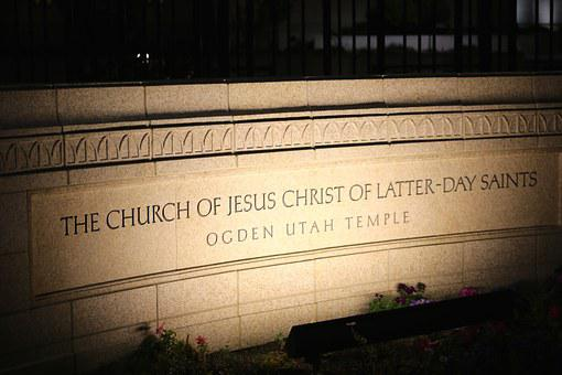 Mormon, Temple, Church, Religion, Night, Christ, Jesus