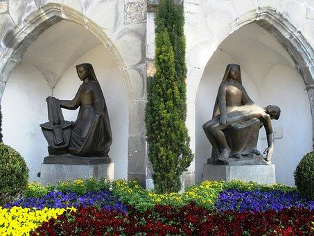 Sculpture, Bronze, Sacral, Church Of St Florin, Vaduz