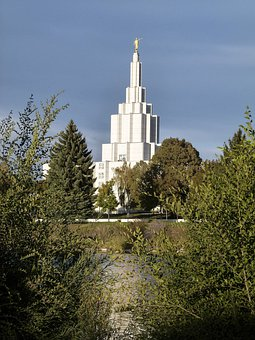 Mormon, Temple, Building, Idaho Falls, City, Idaho, Usa