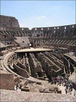 Colloseum, Rome, Italy, Roman History, Arena, Romans
