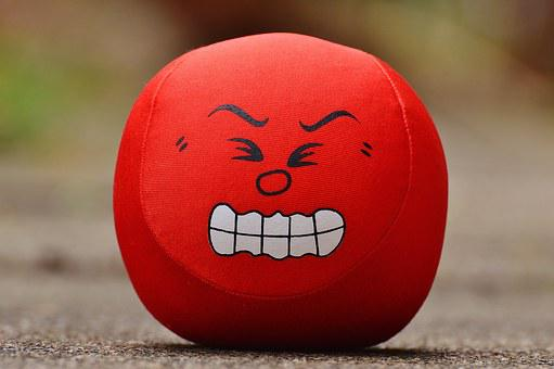 Smiley, Rage, Evil, Sour, Funny, Red, Sweet, Cute, Face
