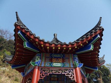 Guilin, Yongfu, Fengshan Park, Pavilion