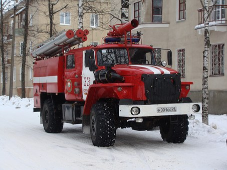 Koryazhma, Firefighter, Truck, Car, Vehicle, Rescue