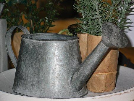 Watering Can, Gartendeko, Deco, Decoration, Still Life