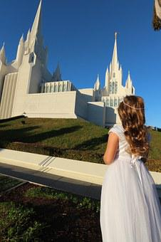 Girl, Angel, Praying, Chilb, Temple, Mormon, San Diego