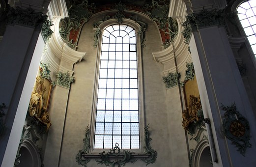 Cathedral, Interior, Window, Sacral, Ornaments