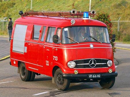 Mercedes, Fire, Truck, Benz, Oldtimer, Automobile