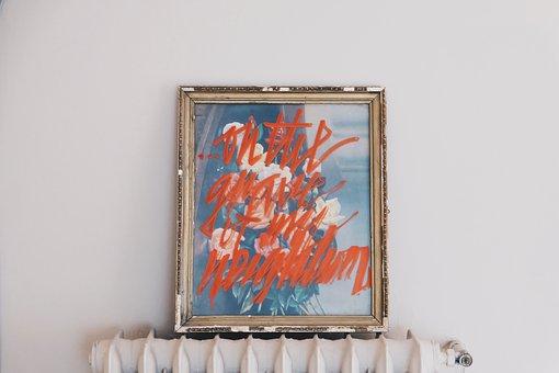 Painting, Art, Frame, Standing, Heater, Radiator