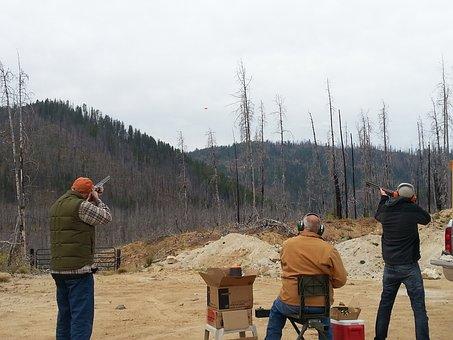 Shooting, Clay, Pigeons, Skeet, Gun, Rifle, Target