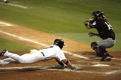 Baseball, Scoring, Sliding Into Home, Play, Player