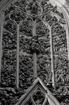 Church, Portal, Bronze, Tobasilika, Kevelaerd, Skull