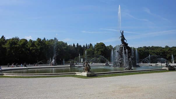 Bavaria, Fountain, Germany, Prien Am Chiemsee, Summer
