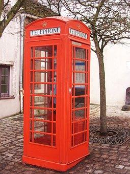 Phone Box, English Phone Booth, Red Cabin, Phone