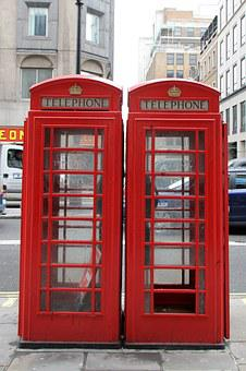Phone Booth, Red, London, Dispensary, England