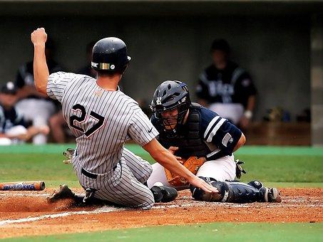 Baseball, Catcher, Baseball Catcher, Slide, Score, Run