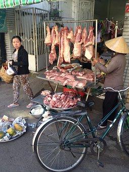 Saigon, 2013, Ho Chi Minh, Meat, Street, Butcher