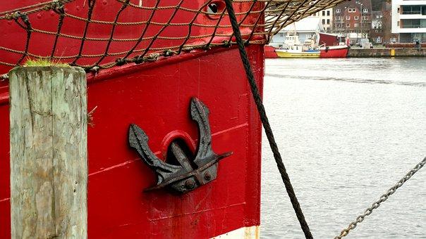 Ship, Anchor, Water, Port, Boot, Sea, Ship Anchor