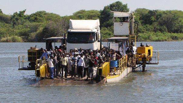 Ferry, Car Ferry, Translate, Shipping, Botswana Zambia