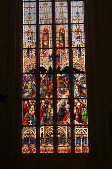 Stained Glass Window, Church, Sacral Architecture