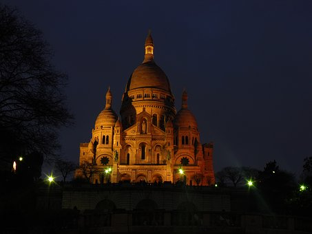 Night, The Cathedral, Architecture, Church, France