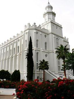 Usa, United States, St-georges, Mormon, Temple