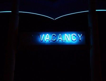 Vacancy, Neon, Motel, Hotel, Travel, Tourism, Vacation