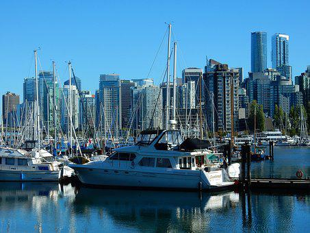 Vancouver, Skyline, False Creek, Canada