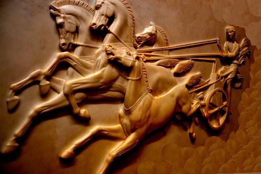 Chariot, Horses, Carriage, Whip, Ancient, Warrior, War