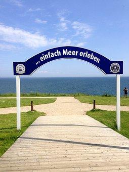 Baltic Sea, Sea, Coast, Water, Travemünde, Slogan