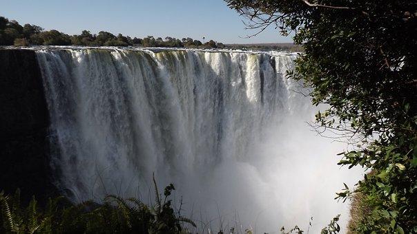 Victoria Falls, Waterfall, Zimbabwe, Tropical, Wonders