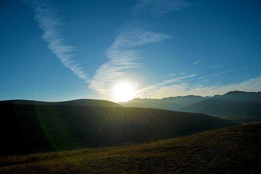 Nature, Landscape, Sky, A Bird's Eye View, Sunset